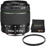 Pentax SMC DA 18-55mm f/3.5-5.6 AL Weather Resistant Lens + 52mm UV Filter + DavisMAX MicroFiber Cloth DavisMAX Bundle