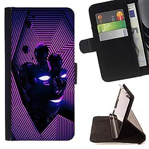 Momo Phone Case / Flip Funda de Cuero Case Cover - Vibrante Purple Líneas Cara Energía Moderna - Sony Xperia Z3 D6603