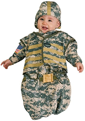 Infant size Camouflage Soldier Bunting Costume