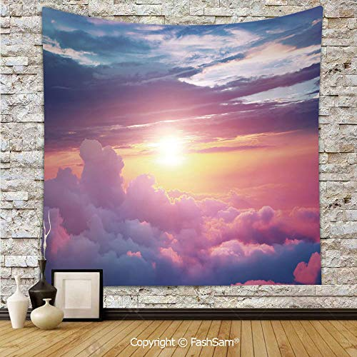 FashSam Tapestry Wall Hanging Surreal Sky with Fluffy Clouds Dreamy Horizon Tranquility Panorama Tapestries Dorm Living Room Bedroom(W59xL90)]()