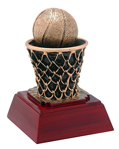 (Decade Awards Basketball Sculpture Trophy | Hoops Award | 4 Inch Tall - Customize Now)