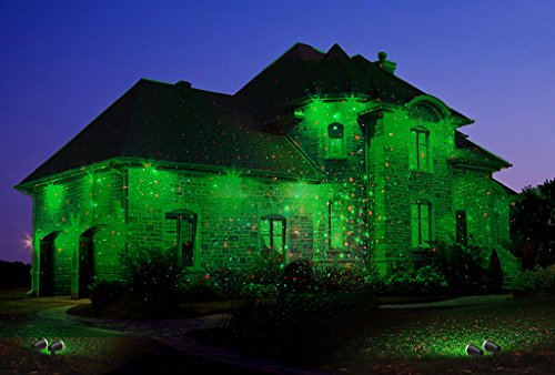 1byone Updated Aluminium Alloy Outdoor Laser Christmas Lights with ...