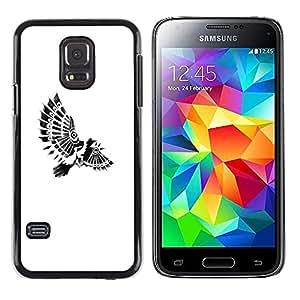Be Good Phone Accessory // Dura Cáscara cubierta Protectora Caso Carcasa Funda de Protección para Samsung Galaxy S5 Mini, SM-G800, NOT S5 REGULAR! // bird paraplane Indian feathers