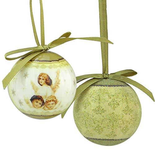 Northlight 12-Piece Angel Decoupage Shatterproof Christmas Ball Ornament Set 1.75