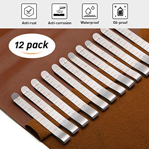 KINGSO 12 Pcs 3#039#039 Stainless Steel Sewing Clips Ruler Hemming Clips Measure Clip Hemmer No Pin Hem Clip Marking Ruler Guides Silver