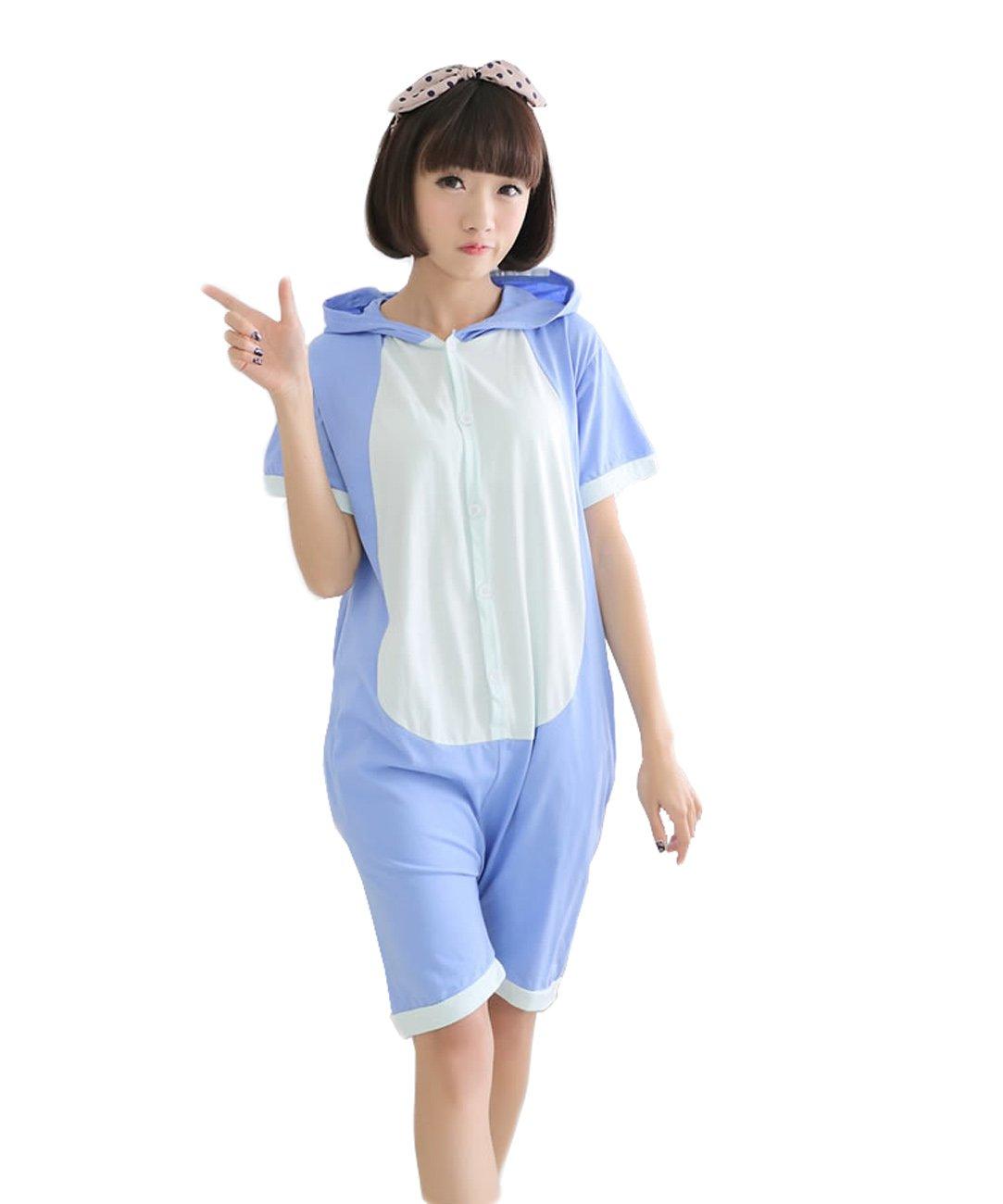 Yimidear Unisex Stitch Costume Summer Cute Cartoon Cotton Pajamas Animal Onesie (L) by Yimidear (Image #1)
