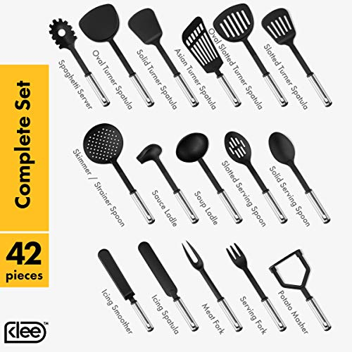 Klee Deluxe 42 Piece Heat Resistant Stainless Steel And
