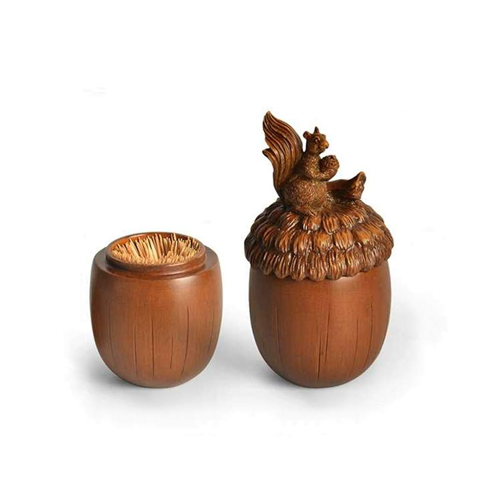 MOAKER Creative fashion toothpick holder, Portable cute toothpick storage organization, Acorn high-grade toothpick box, Home decorations by MOAKER