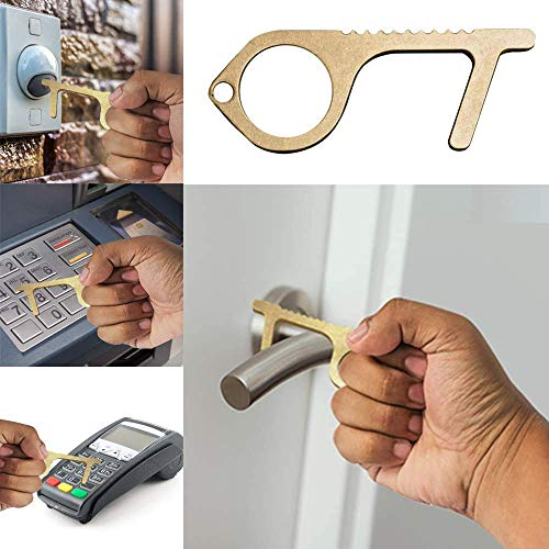 ManTool Clean Key 5-in-1 Tool - Contactless EDC No Touch Door Opener with Anti-Slip Design by ManTool