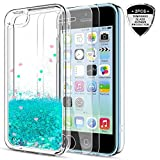 iPhone 5C Case,iPhone 5C Liquid Case with HD Screen...