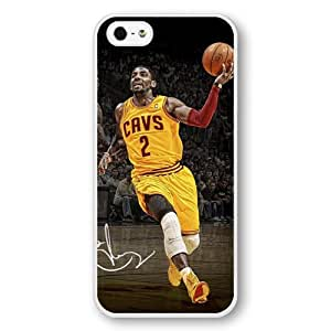 Onelee(TM) - Customized Personalized White Hard Plastic iPhone 5/5S Case, NBA Superstar Cleveland Cavaliers Kyrie Irving iPhone 5/5S Case, Only Fit iPhone 5/5S Case