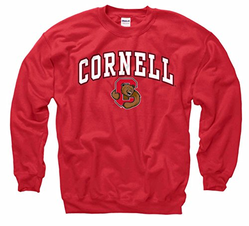- Cornell Big Red Arch & Logo Gameday Crewneck Sweatshirt - Red
