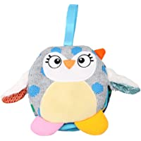 guoYL26sx Baby Toys Cute Cartoon Owl Cloth Book Bedtime Story Kids Baby Educational Hanging Toy