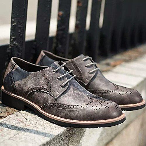 LHLWDGG.K Zapatos De Vestir De Los Hombres Zapatos De Boda Zapatos Oficina De Negocios Con Los Hombres, Gris, 12 12 Gray