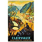 Clervaux Vintage Poster (artist: Gerson) Luxembourg c. 1932 (16x24 Giclee Art Print, Wall Decor Travel Poster)