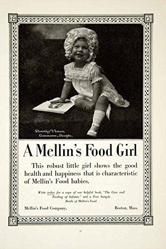 1919 Ad Mellins Baby Food Dorothy Verner Commerce GA Infant Child Portrait YSC1 - Original Print - Ga Commerce