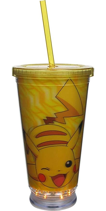 cd6253831e0 Amazon.com | Pokemon Pikachu LED Light Up Tumbler Cup with Lid and ...