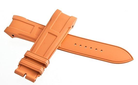 4efa64df1d2f ... official hermes pour homme bracelet en caoutchouc orange bracelet de  montre 22 mm 57573 de09c