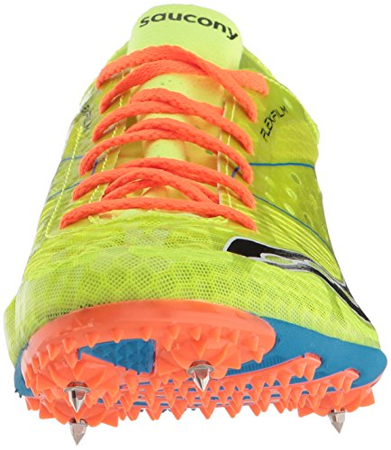 Saucony Mens Endorphin LD4 Track Shoe Citron / Blue / Orange