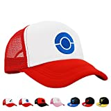 PopCrew [Embroidered Team Trainer Hat Pokemon Cosplay Costume - (Blue)