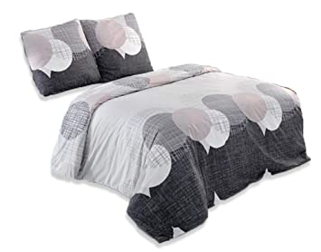 Buymax Bettwäsche Set 3 Tlg Baumwolle Renforcé Mit Reißverschluss