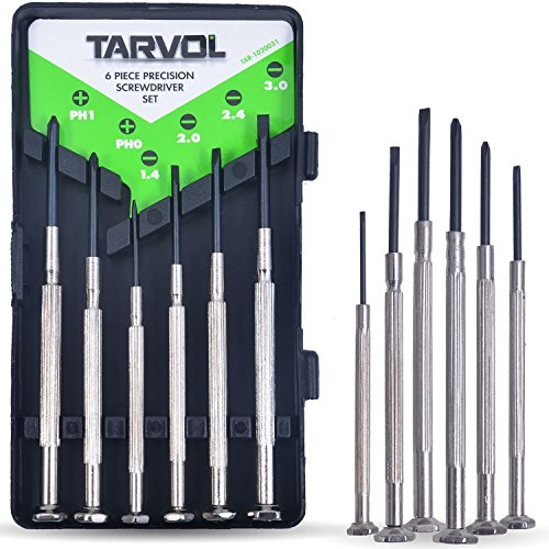 - Precision Screwdriver Set (SET OF 6 WITH CASE) Flathead & Philips in 6 Different Sizes - Perfect Mini Screwdriver Bits for Jewelry Repair, Watch Repair, Eyeglass Repair, and More!