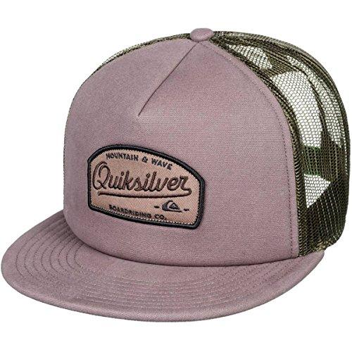Checker Cap Hat - Quiksilver Men's Past Checker Trucker Hat, Chocolate Brown, 1SZ