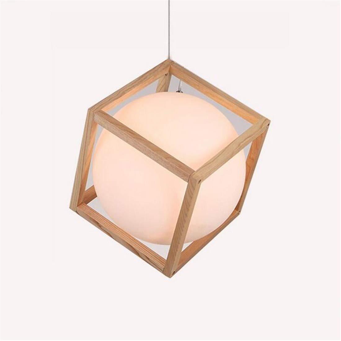 Moderne kronleuchter scheinwerfer holz pendelleuchte leuchte e27 milchweiß sphärische glas lampenschirm decke hängen licht