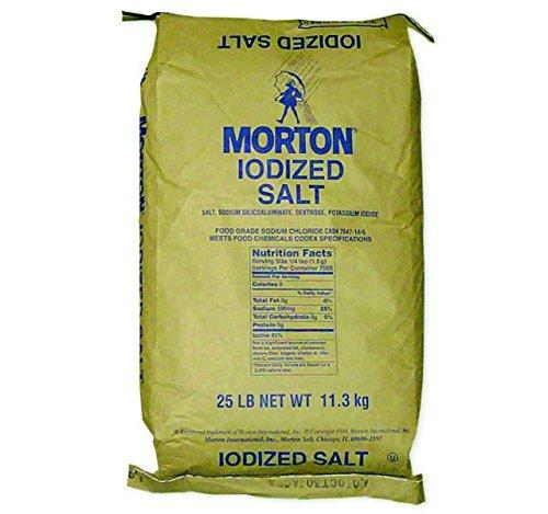 Kauffman's Fruit Farm Iodized Table Salt, Seasonings, Flavor Enhancer for Cooking and Baking, Kosher, Bulk 25 Lb. Bag -