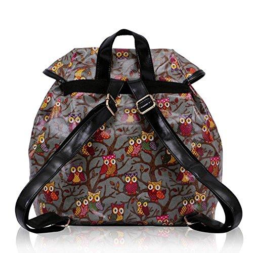 TrendStar - Bolso mochila  para mujer rojo E - Red E - Grey