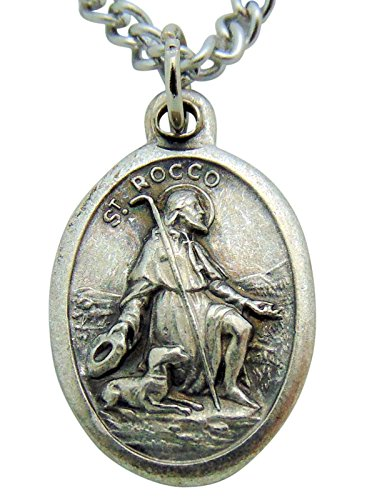 Westman Works Saint Rocco Patron Saint Medal 3/4 Inch Long with Stainless Steel Chain from Westman Works
