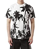Wiberlux Golden Goose Men's Palm Tree Print T-Shirt XS White