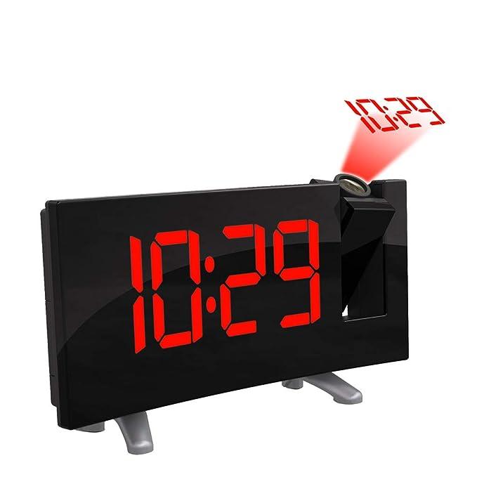 Amazon.com: ❤️MChoice❤️Arc LED proyección despertador ...
