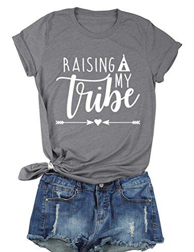 Nlife Women Raising My Vibe Letter Print T-Shirt Women Short Sleeve Shirt Tee Top