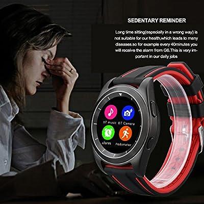 Amazon.com: NO.1 G6 - Bluetooth Smart Watch Heart Rate ...