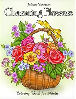 Amazon Com Flowers Coloring Book Beautiful Pictures From The