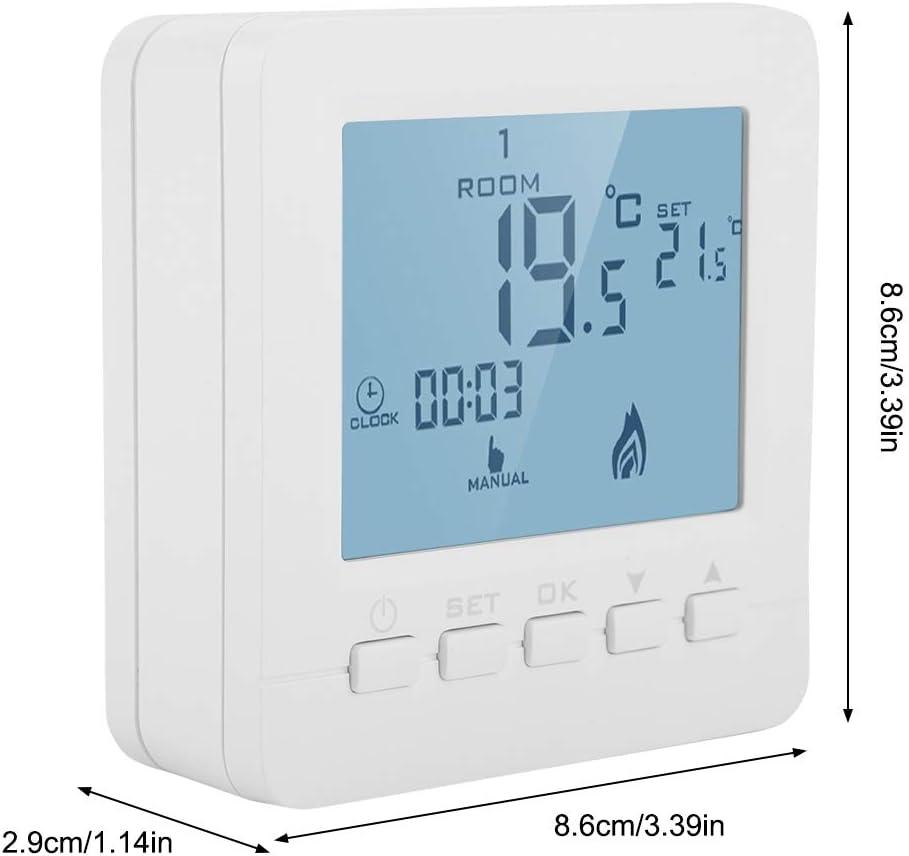 FTVOGUE Pantalla LCD Inteligente Termostato de Calefacción ...