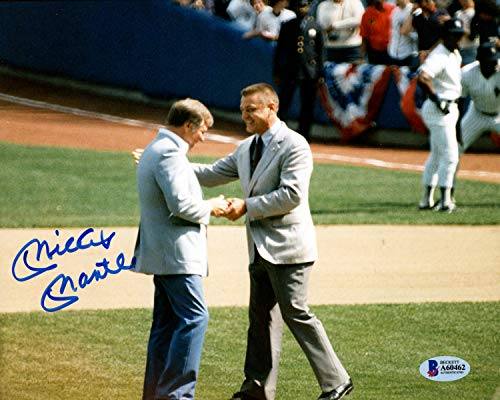 Mickey Mantle Autographed Signed Memorabilia 8x10 Photo New York Yankees With Roger Maris - Beckett Authentic ()