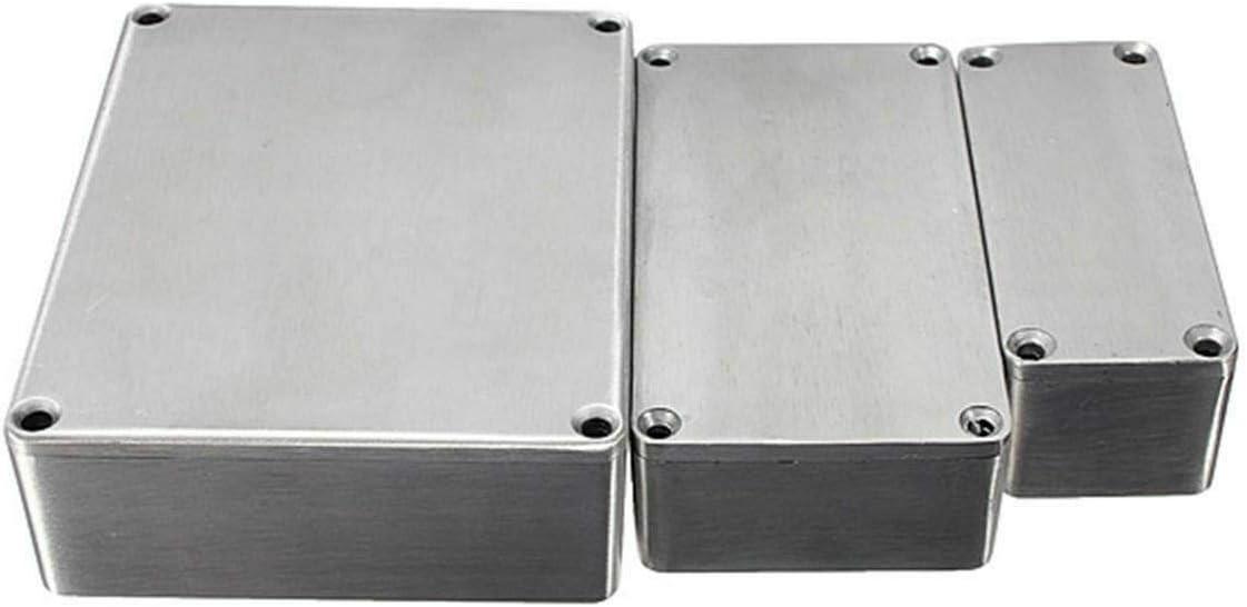SUPERTOOL Aluminium-Druckguss-Geh/äuse Elektronik-Projekt-Geh/äuse f/ür externe Stromzufuhr im Freien wasserfest silber 1 St/ück
