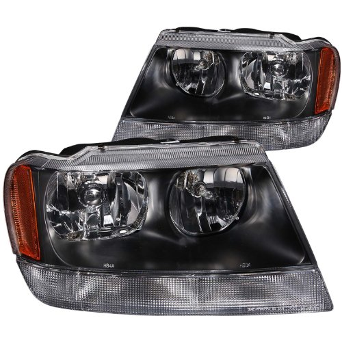 Grand Cherokee Crystal Chrome Headlight Assembly - (Sold in Pairs) (Anzo Usa Headlight Crystal)
