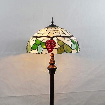DSHBB Luces de Piso, lámpara de pie Estilo Tiffany de UVA de ...