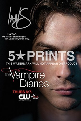 Ian Somerhalder Poster Photo Signed Pp The Vampire Diaries Autograph Print Style C by
