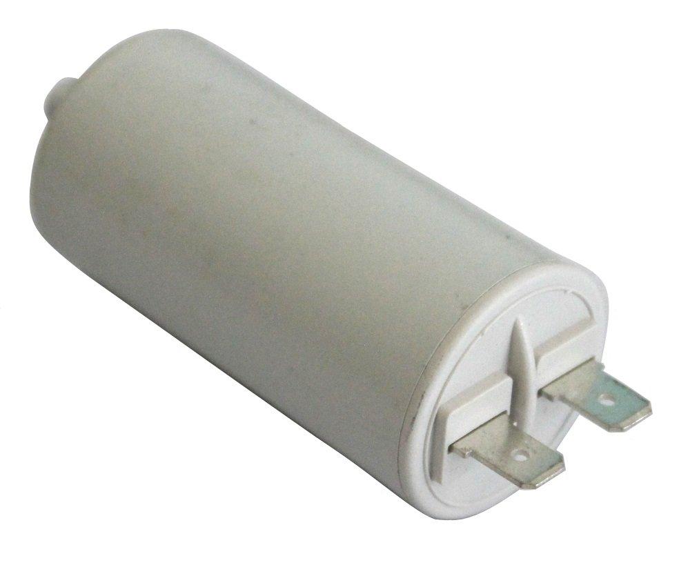 Aerzetix - Condensatore permanente di lavoro per motore 10 µ F 450V con terminali 6, 3 mm . SK2-C10420-K19