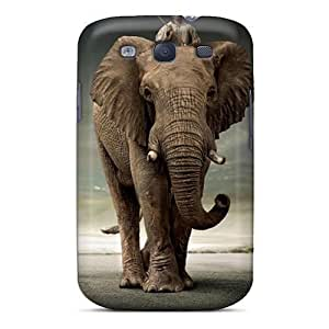 Hard Protective For HTC One M7 Case Cover - Elephant Rider