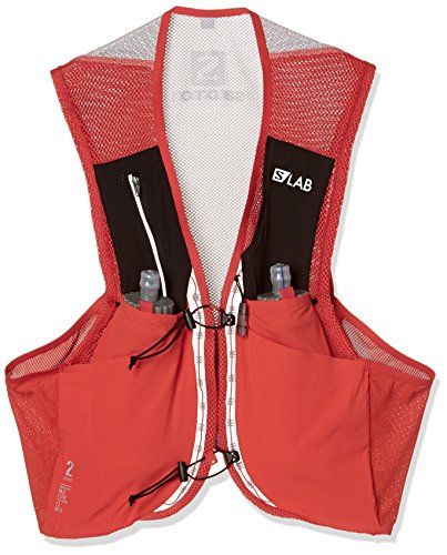 Salomon Unisex S/Lab Sense 2 Set Hydration Vest, Racing Red, X-Small