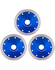 """Tanzfrosch 4.5 inch Diamond Saw Blade 4.5"""" Cutting Disc Wheel for Cutting Porcelain Tiles Granite Marble Ceramics Works with Tile Saw and Angle Grinder (3 Pack, Blue)"""