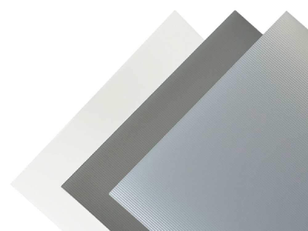 Transparente Mate 1,30/x 194/x 320/mm Placa de pl/ástico PVC acanalados