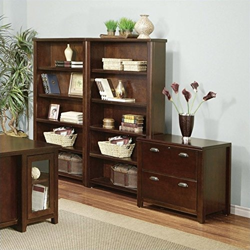 - Martin Furniture Tribeca Loft Bookcase Cabinet Set in Cherry