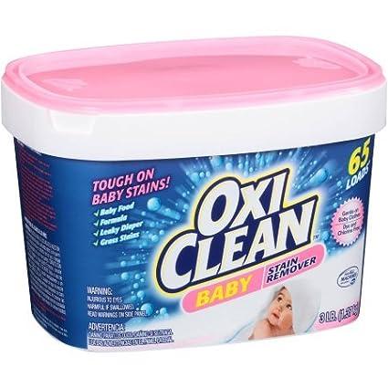 Sin cloro Baby quitamanchas suave para toda la familia, 48 Oz por Oxi limpio,