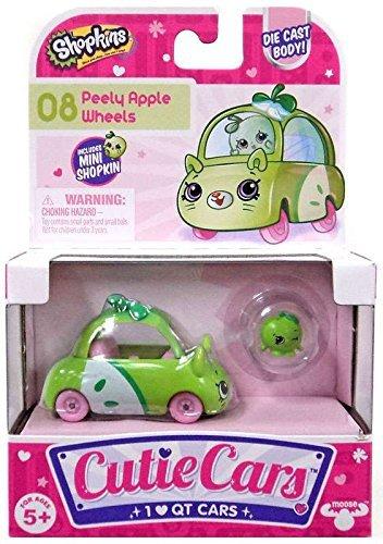Shopkins Cutie Cars #08 Peely Apple Wheels with Mini Shopkin Exclusive